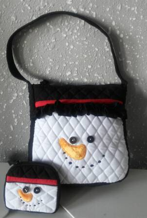 kid's quilted handbag and purse