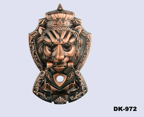 Crown Lion Door Knocker with Door Viewer(DK972)