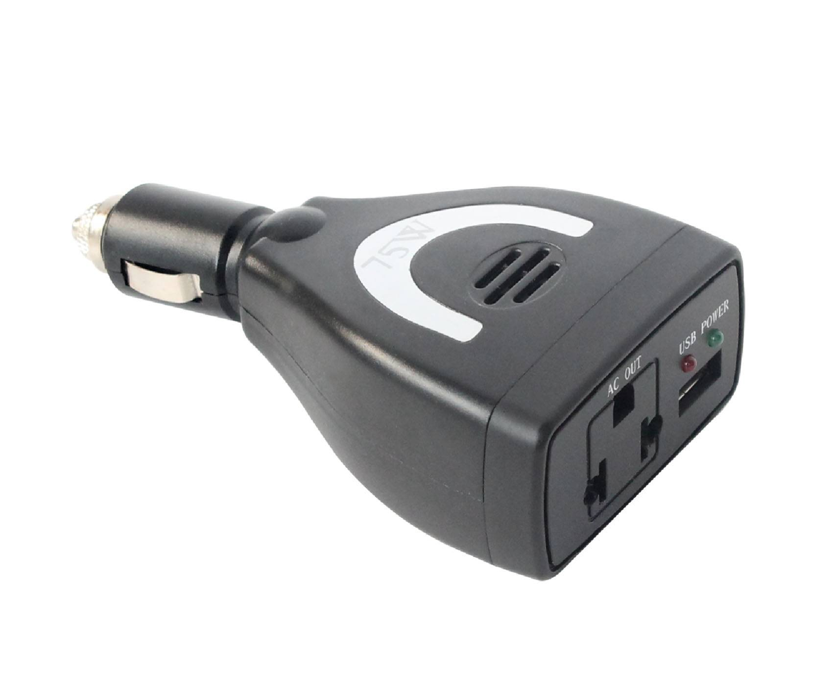 Meind 75W car inverter with USB for laptop computer,Iphone,DVD, camera etc.