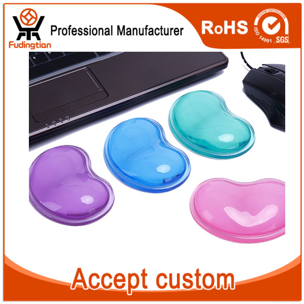 Heart-shaped Transparent Gel Silicone Wrist Rest Mouse Pad