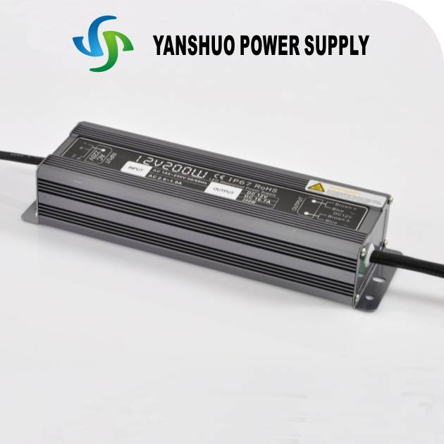 200W waterproof constant voltage led driver for led lights