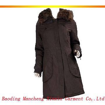 Women's padded dust coat