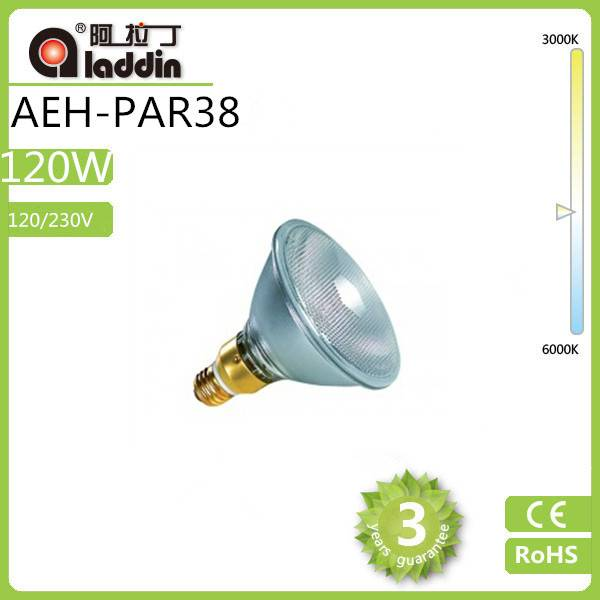 2014 New Arrival Cheap Clear 120/230V tungsten Halogen Lamp 120w PAR38 E27 Base with good price