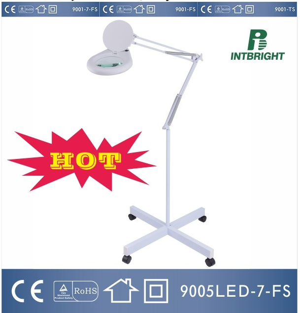 Dimmable LED 5D Magnifying Beauty and Floor Lamp