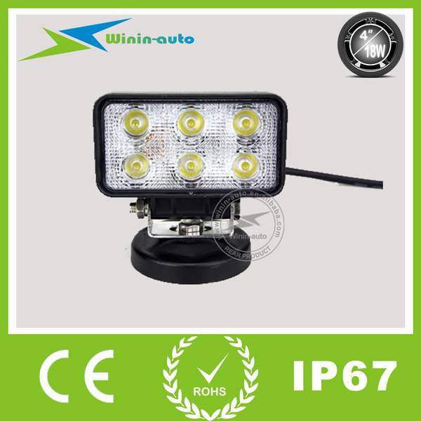 4 18W retangular LED lights for specialized vehicles 1350 Lumen WI4182