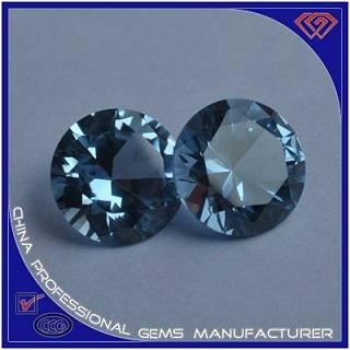 Fashion Round Sapphire With Nano Blue Sapphire