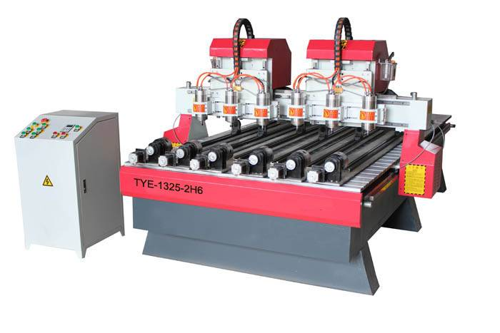Multi-heads & Rotary axises CNC engraver router machine TYE-1325-2H6