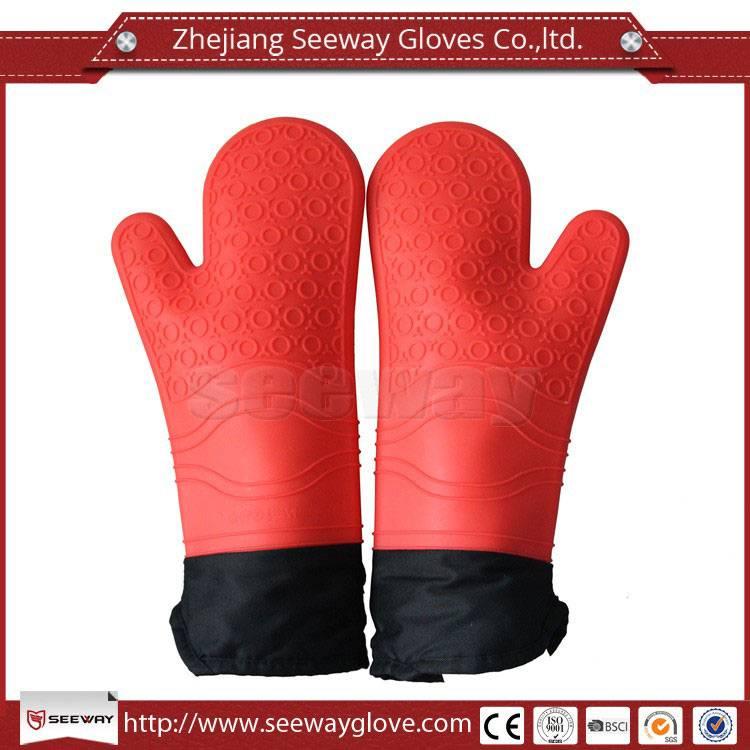 SeeWay silicone waterproof heat resistant oven gloves