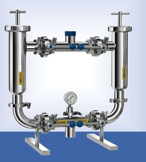 stainless steel water filter system duplex filter