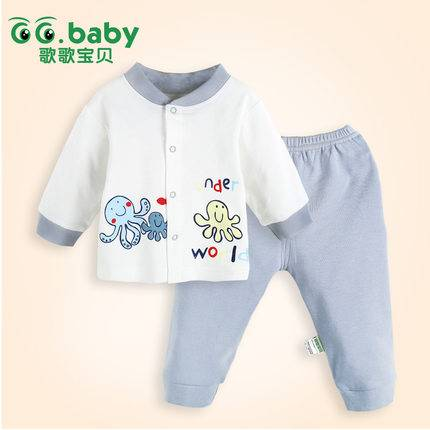 2015New Character Spring Autumn Baby Clothing Sets 100%Cotton Baby Boy Girl Clothes Suits
