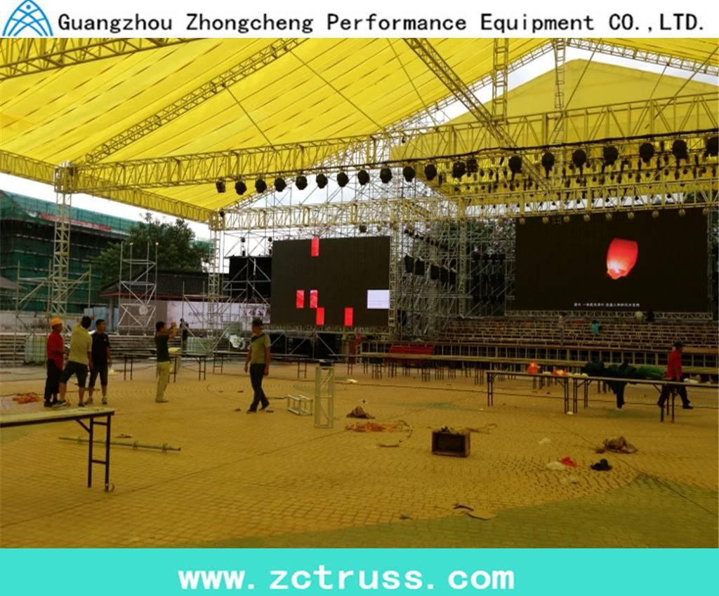 Concert Aluminum Spigot Lighting Stage Truss with Roof