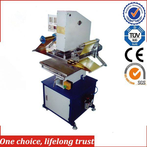TJ-9 pneumatic wedding invitation cards hot foil stamping embossing machine