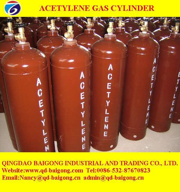 industrial 40L acetylene gas cylinder price for sale