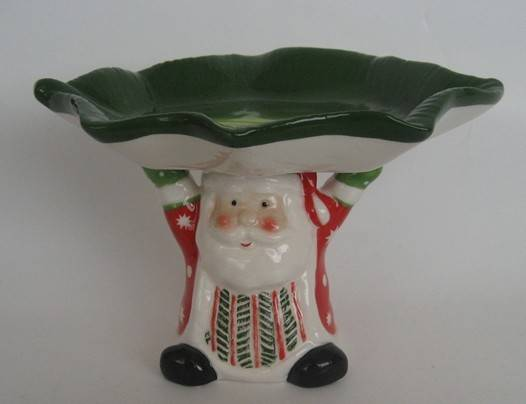 Ceramic Santa Claus holder