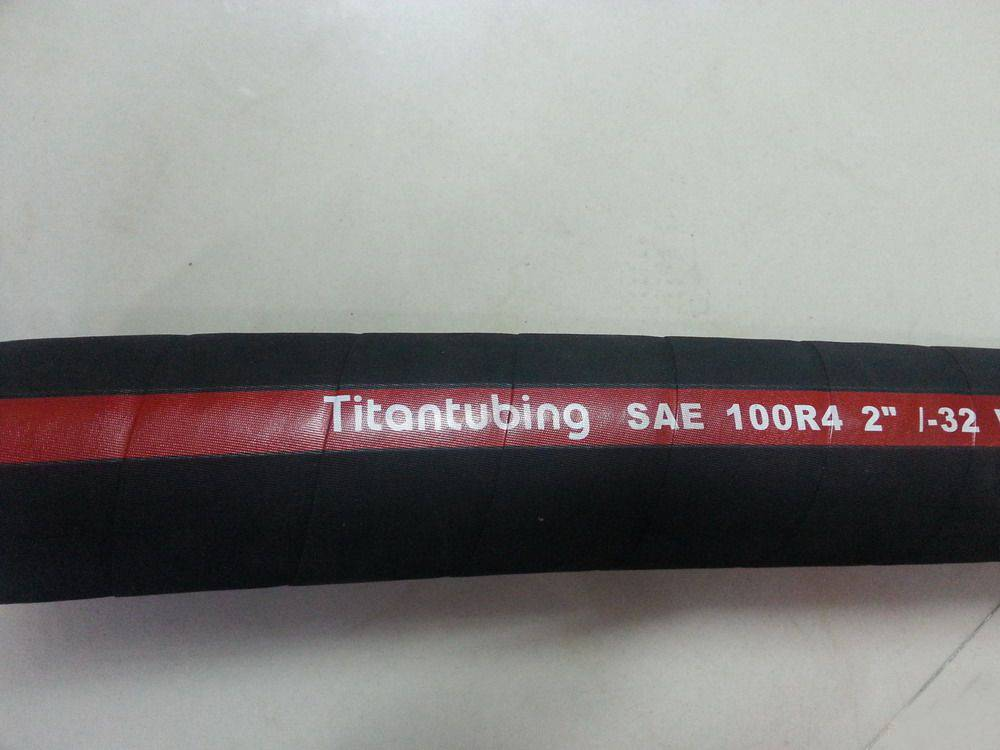 Wire inserted hydraulic suction hose