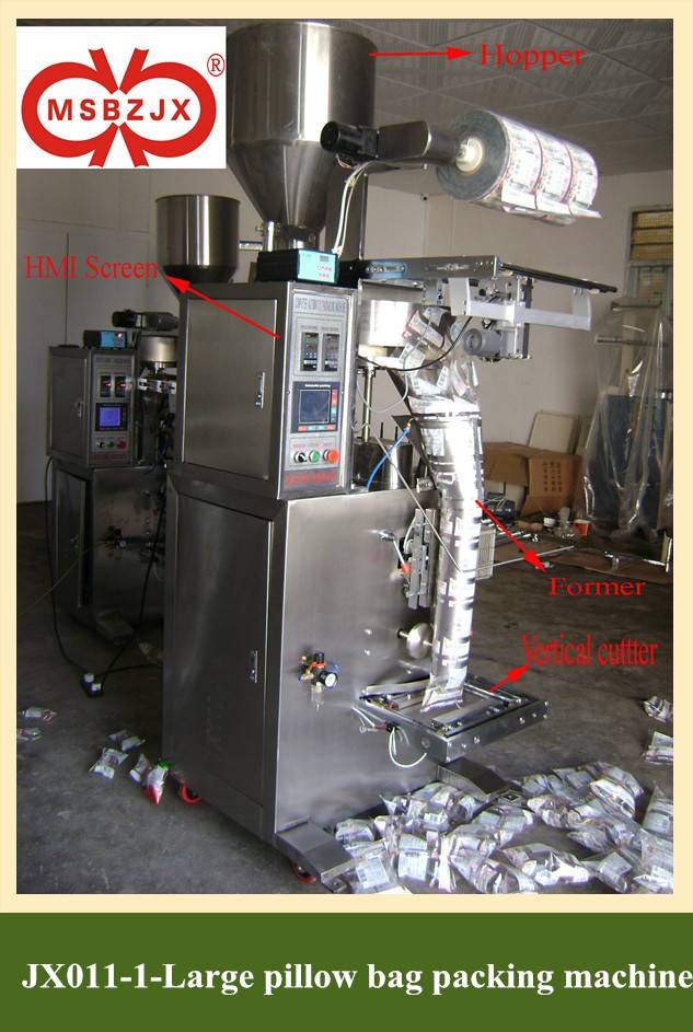 JX011-1Automatic Large Pillow Bag Packaging Machinery by Computer Controller