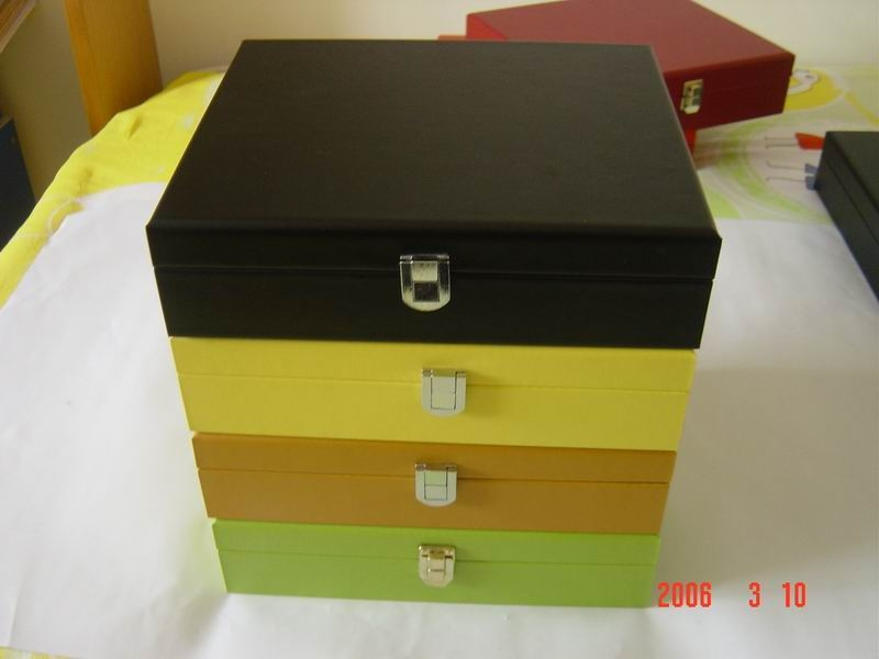 six compartments wooden tea box