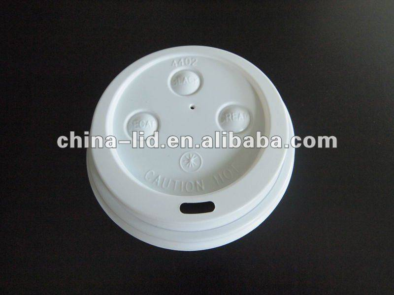 Plastic cover for coffee cup
