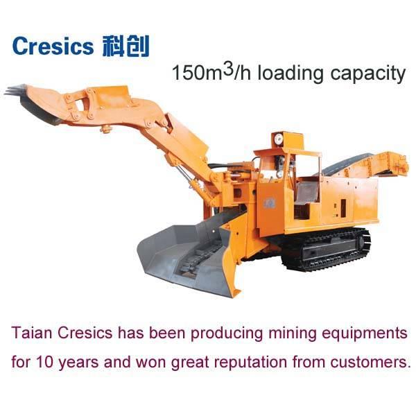 150CBM/H hydraulic underground mining loader