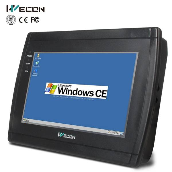 Wecon 7 inch wince system cheap resistive industrial touch screen panel all in one pc