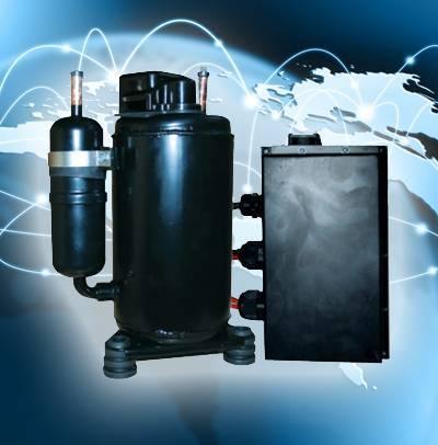 HVAC R134a DC 24v/48v solar power ac compressor for Tele-communication basis telecom tower reg cel