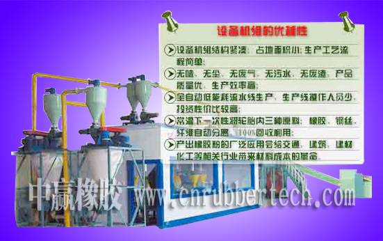 Waste Tire Recycling Treatment Production Line