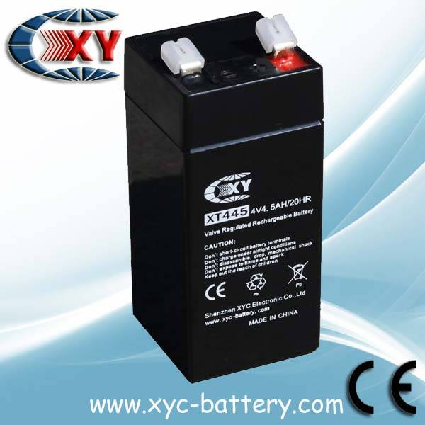 4V4.5AH LED battery Rechargeable lead acid battery