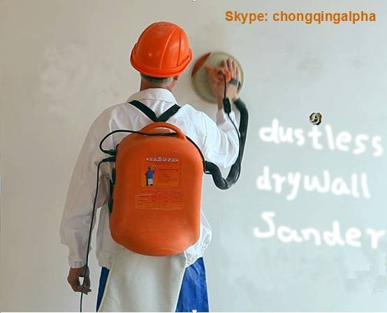New Patent Backpack Dustless Wall Sander