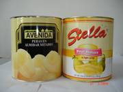canned pear halves