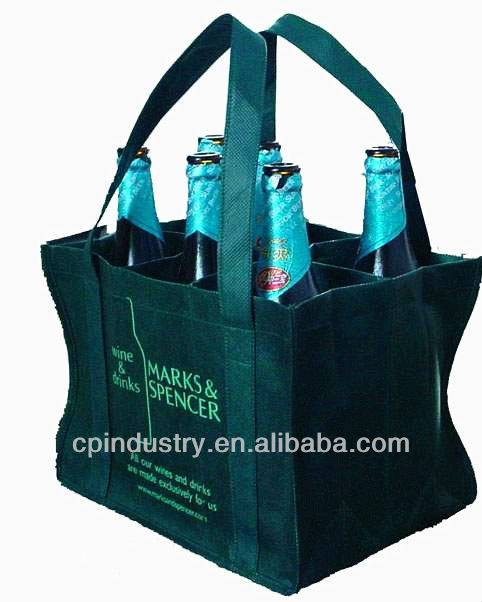 New style non woven bag for packing bottle