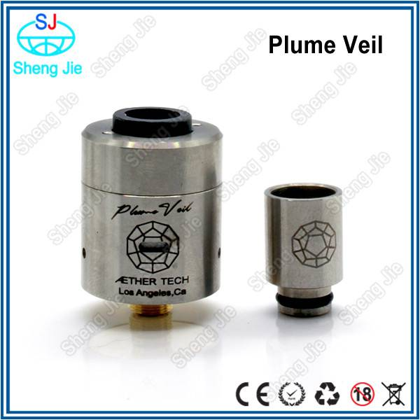 2015 SJ newest RBA atomizer huge vapor Plume Veil atomizer on the market