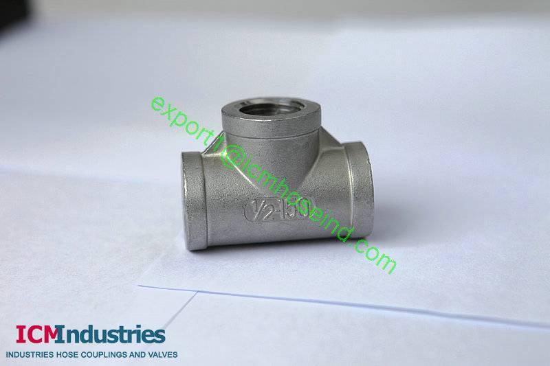 ISO4144 Standard 150lb stainless steel Equal Tee BSP THREAD