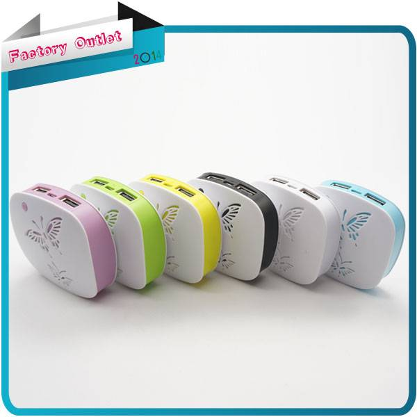 Newest Butterfly 5200mah Portable Mobile Power Bank General Charger