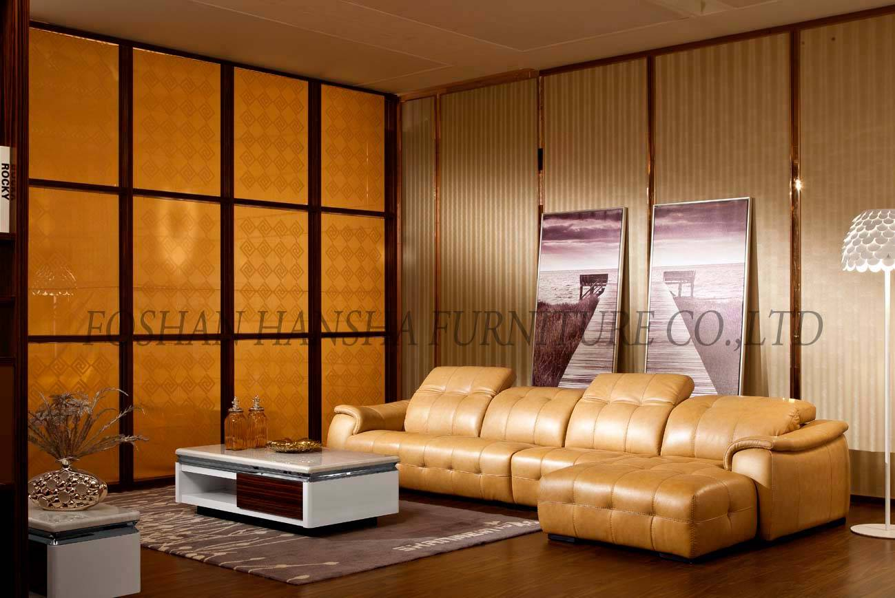 Sell leather living room sofa