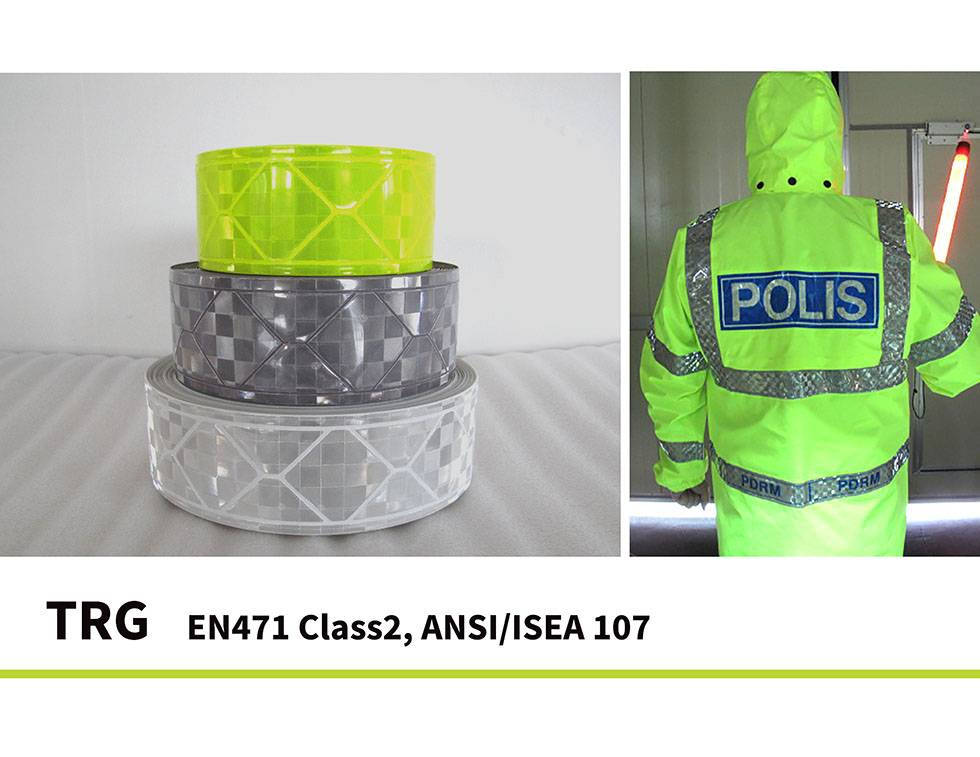Reflective Tape EN471 ISO20471 ANI107 Prismatic Tape for reflective safety wear garment