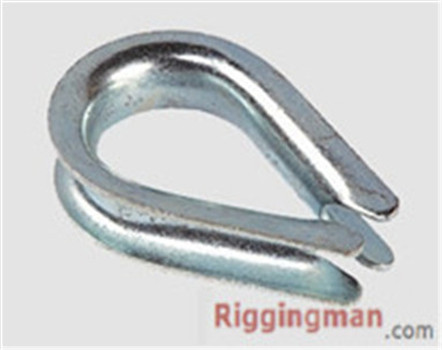 U.S TYPE STANDARD WIRE ROPE THIMBLE ,ZP OR H.D.G