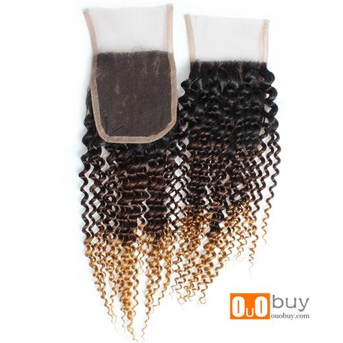Selling 7A Grade Brazilian Hair 100%Human Hair Freely Divide Curly Closure