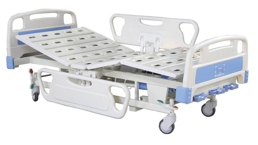 Manual three-function bed wit ABS headboards