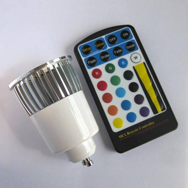 led rgb spotlight with 24 keys remote control