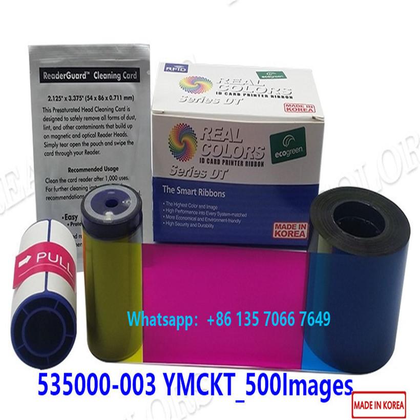 Compatible Datacard Ribbon 535000-003 YMCKT 500 Prints Datacard ID Card Printer CD800 CP80 CP80plus