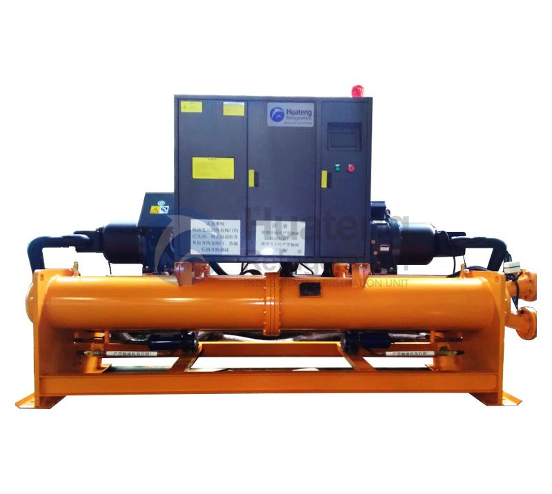 Full Closed 220v Water Cooled Screw Chiller,