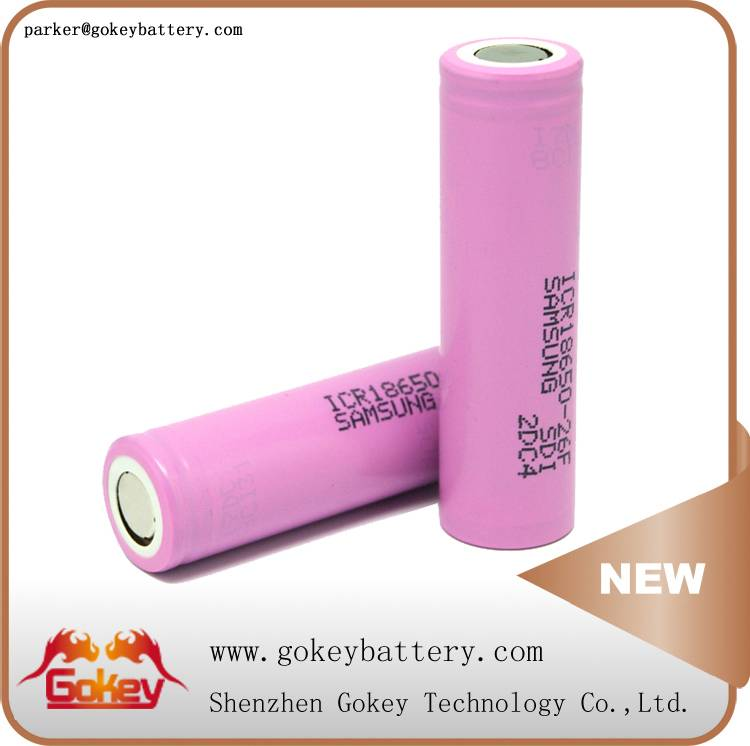 Samsung 26f icr18650-26f 2600mah 3.7v lithium ion 18650 battery