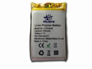 Lithium Polymer Battery Pack 3.7V 1000mAh For GPS , E-book