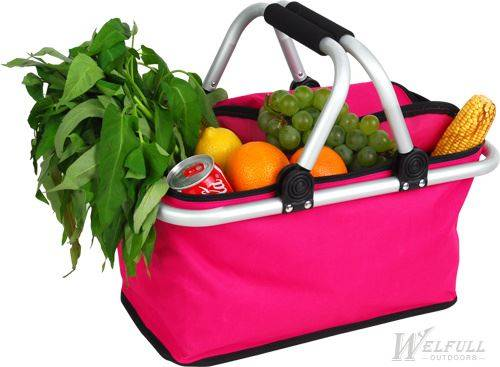 Outdoor Camping Folding Picnic Basket without Cooler