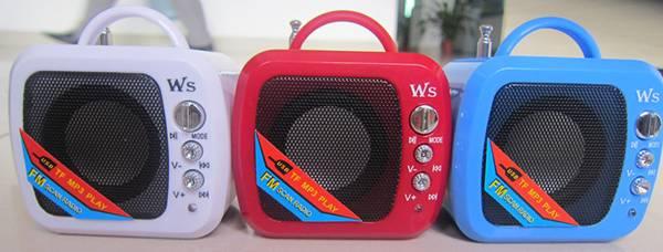 WS-575RL Speaker / Mini FM Radio Card Speaker /mini speaker with USB Recharge