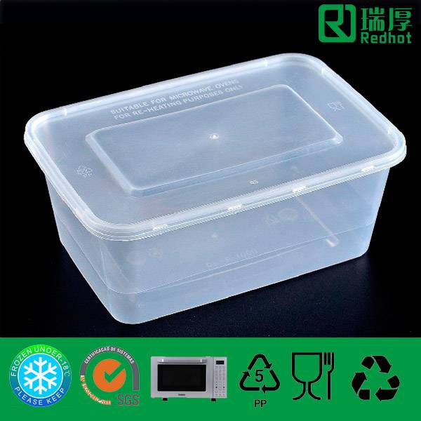 PP Plastic Food Container Household 1000ml