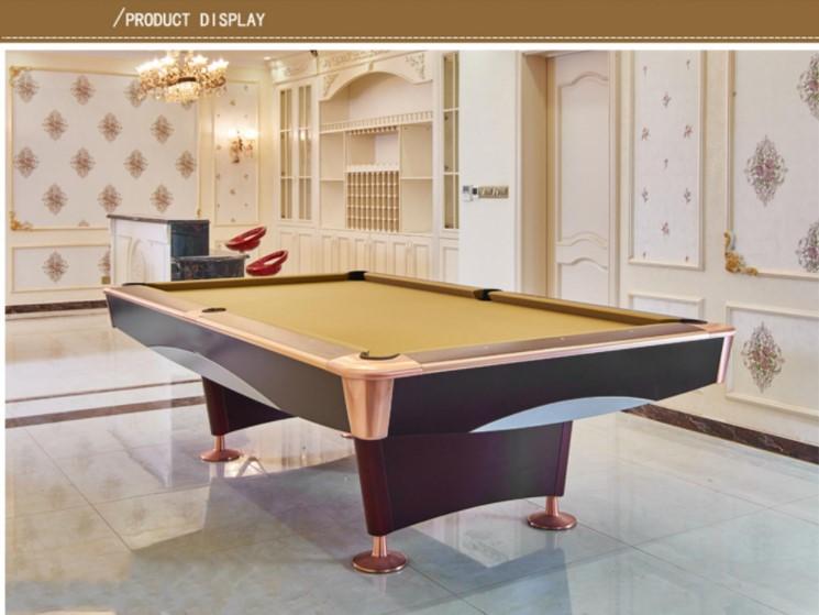 9ft Solid Wood Modern Chinese Black 8 Pool Billiard Table