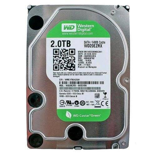 Western Digital WD20EZRX WD Green 2TB Internal HDD 3.5 Desktop Hard Drive Disk