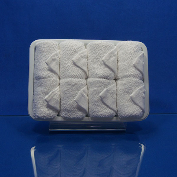 2018 New Genuine Hot and Cold 100% Cotton Disposable Towel for Airline-25x25cm18g 8pcs Per Tray