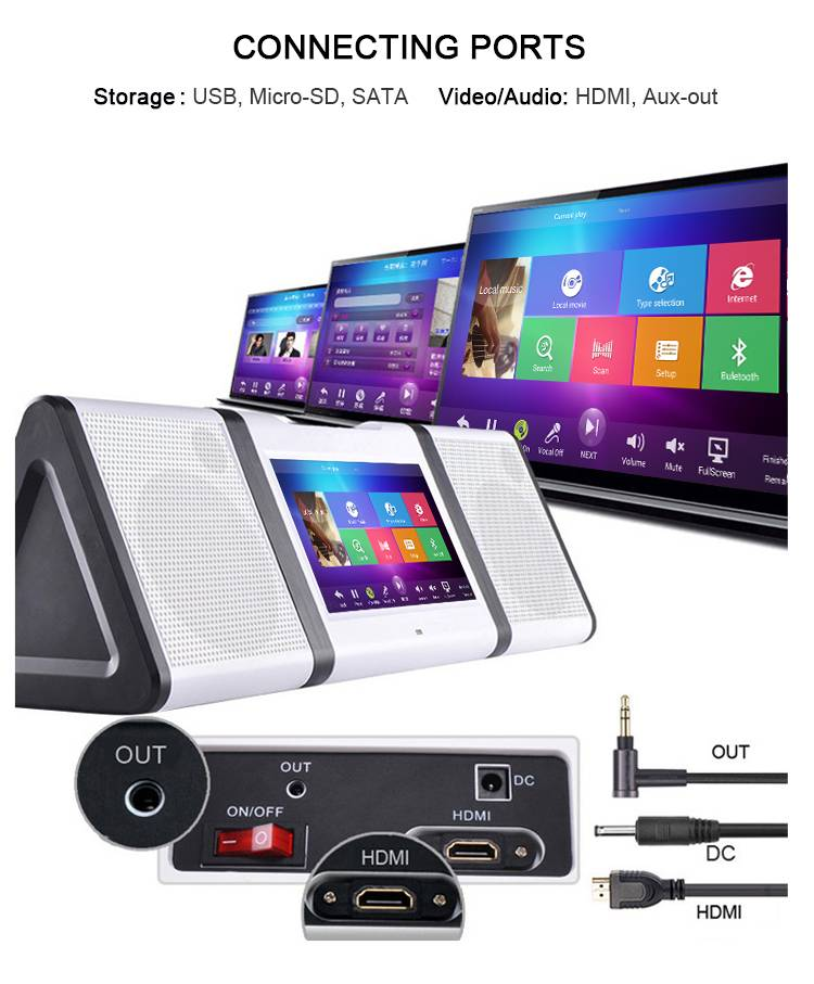 2016 creative karaoke player all in one android portable KTV system